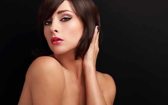 макияж, стрижка, corporate, яndex, макет, взгляд, стрелки, девушка, помаде, sexy, женщина,