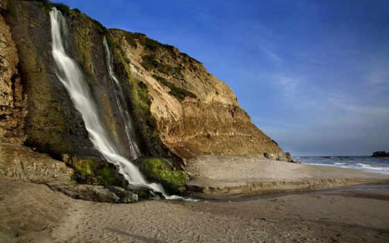 ocean, falls