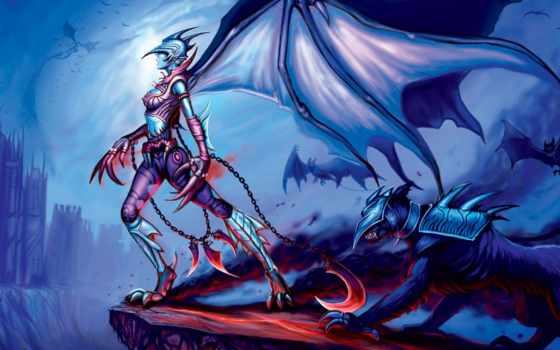 devushki, дракон, фантастики