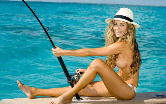 рыбалка, fishнаженная