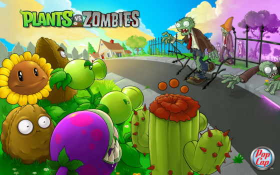 zombies, plants, game, зомби,