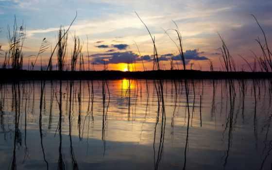солнца, природы, красивыми, закатами, озеро, картинка, небо, количество, красивые, мб,
