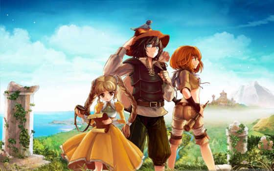 друга, anime, трио,
