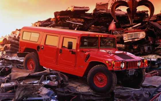 hummer, хаммер, jeep, внедорожник, хамер, автомобилей, фронтовой, red, закат,