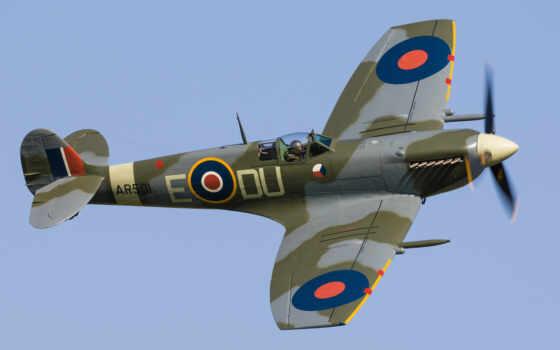 spitfire, supermarine, raf, истребитель