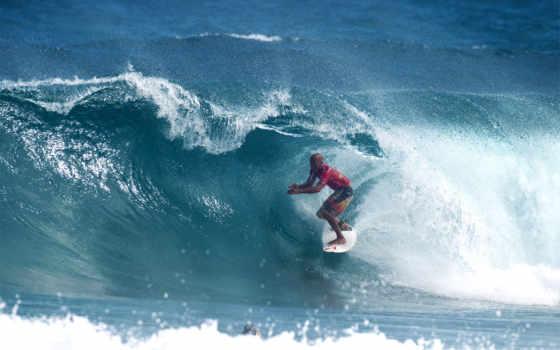 сёрфинг, девушка, спорт