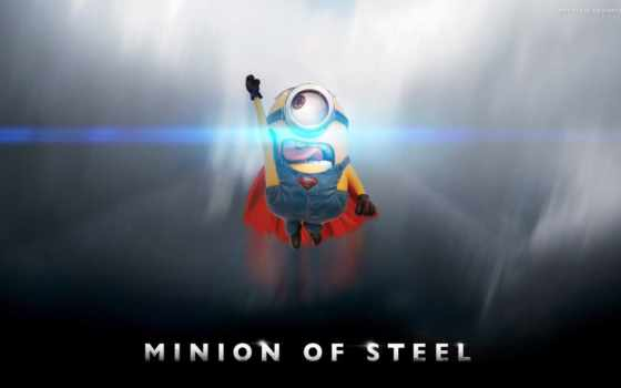 minions, superman, миньон, desktop, available, mobile, resolutions, phones,
