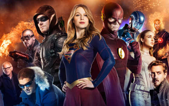 flash, стрелок, legends, supergirl, tomorrow, кроссовер, event, merlin,