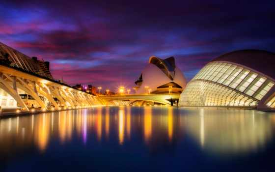 valencia, город, испания, arts, sciences, you, places,