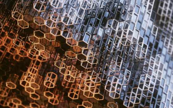 металлик, structure, сеточка, prism, hexagon, construction, mac