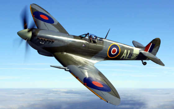 spitfire, ураган, supermarine, флаг, plane, hawker, пиратский, bitwy, истребитель, собака