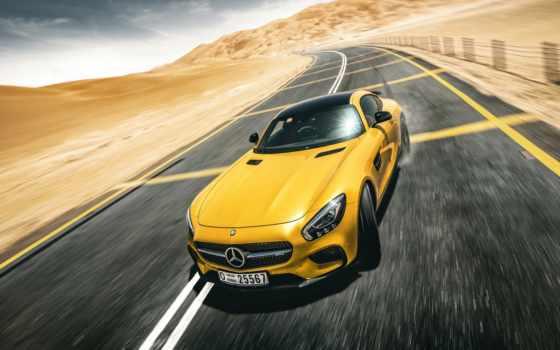 mercedes, amg, benz, drifting, dubai, картинка, июл, автомобили, yellow,