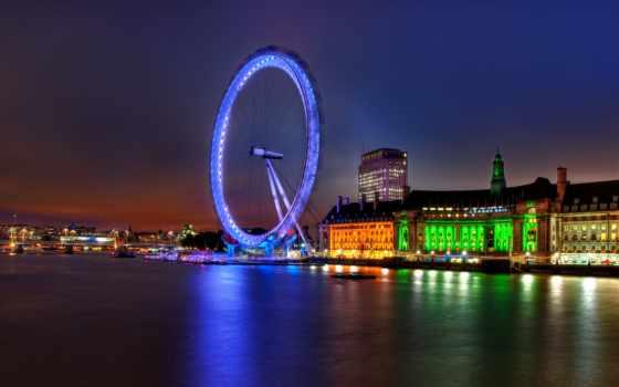 london, великобритания, ук, глаз, столица, англия, колесо, река, thames,