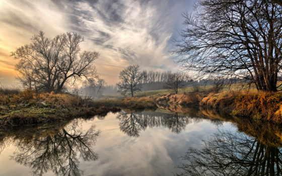 река, природа, places, colorful, houses, images, те, изображение, ночь,