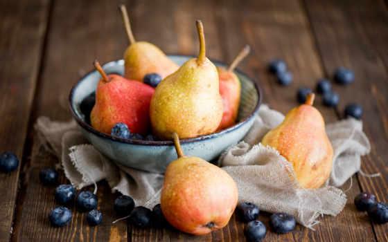натюрморт, плод, груши, за, красивые, фрукты,
