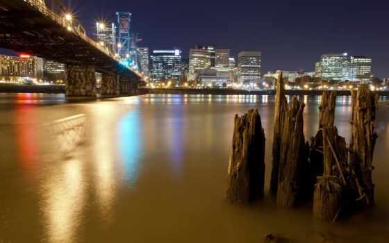 город, мост