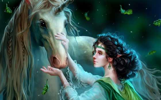 fantasy, einhorn, hintergrundbilder