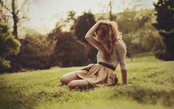 девушка, поле, парень, боя, art, настроение, волосы, настроения, природа,