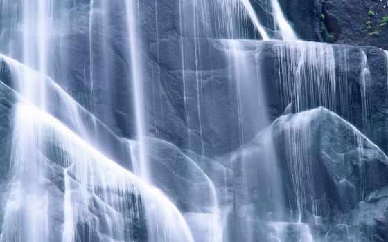 струи, waters, лестница, натуральная, горные, породы, water, красавица, камни,