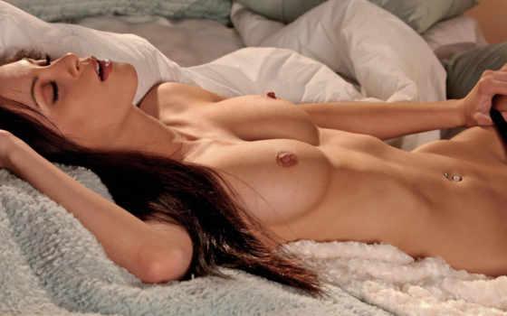 , животик, красивая грудь, голая, рыжая,