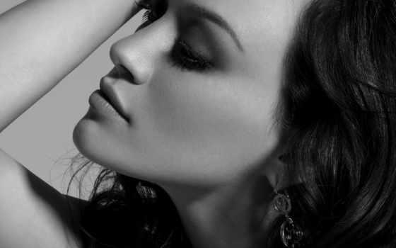 чёрно, белые, макияж, девушек, аву, фотографий, portrait, белых,