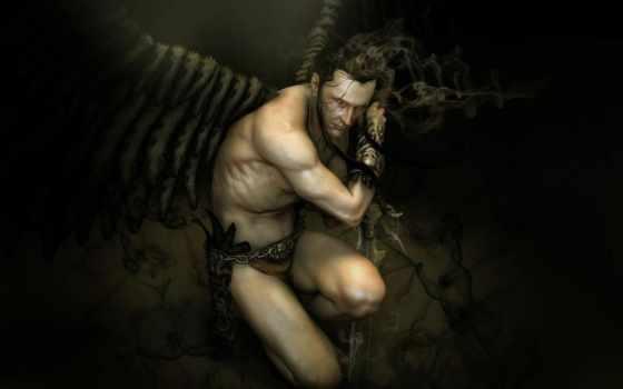 lucifer, fallen, angel, fantasy, картинка, злой, art,