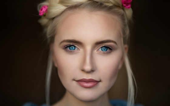 девушка, волосы, женщина, модель, глаз, смотреть, глаза, blonde, jewelry, late