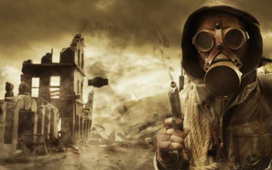 stalker, pripyat, маска, пистолет, небо, колл, развалины, youtube, world, веревка