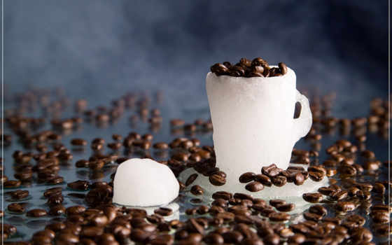 кофе и лед