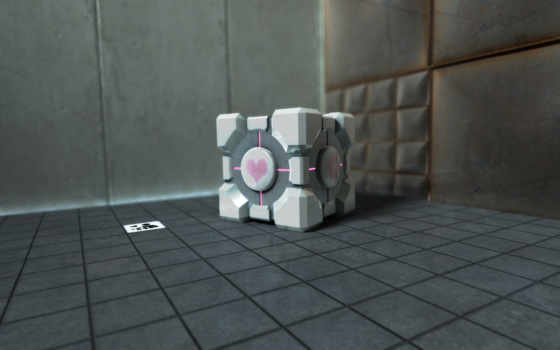 портал, companion, кубик