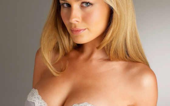 blonde, взгляд, грудь