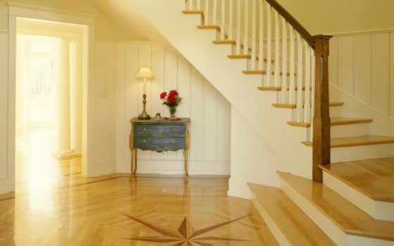 лестницы, интерьере, лестница