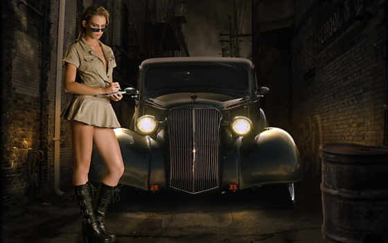 авто, девушка, девушки, dark, автомобиля, lane,