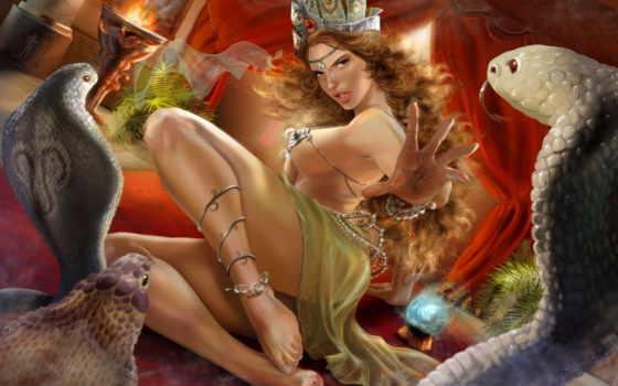 змеи, kobra, девушки, девушка, опубликовал, красивые,
