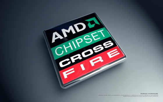 amd chipset cross fire лого объёмное
