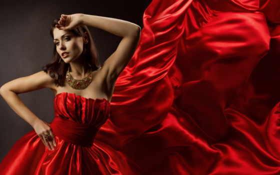 платье, девушка, красном, красное, красивая, платья, красные, разных, devushki, разрешениях,