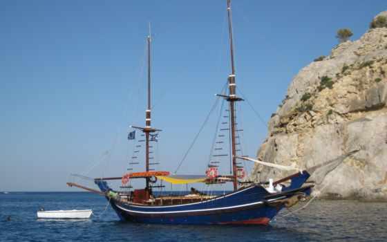 море, sailboat, супер, жмите, небо, кораблик, картинку, июл, разные, подборка,