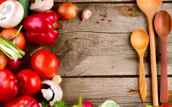 производить, деревянные, ложки, перец, капуста, лук, грибы, помидоры, есть, чеснок,