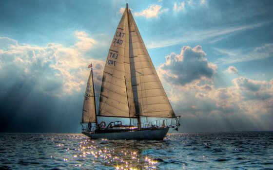 яхта, парусная, море, парусные, яхты, парусник, zoom,