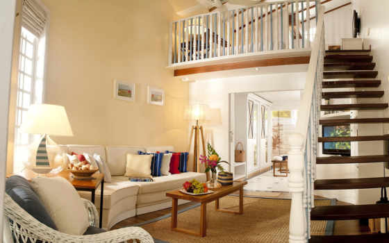 лестница, гостинная