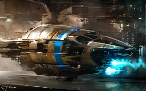 spaceship, sci, фантастика,