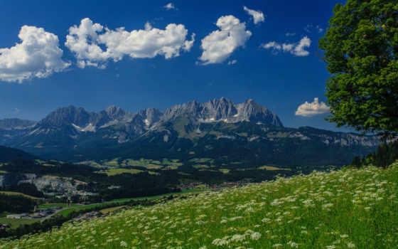 wilder, kaiser, альпы, австрия, гора, desktop, austrian,