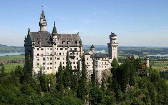 нойшванштайн, castle, нойшванштайн, замки, проведения, сегодня, германии, дворцы,