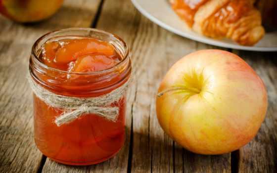джем, яблочное, рецепты, яблок, лимоном, варенья, очень, дольками, рецепт,