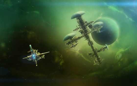 космос, станция, sci, корабли, deep, cosmos, fantasy, desktop, планеты,