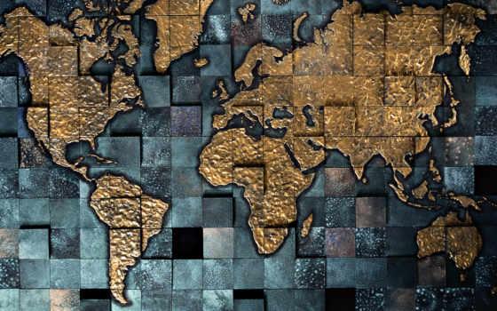 map, кубики, картинка, мира, абстракции, обоях, добавлено,