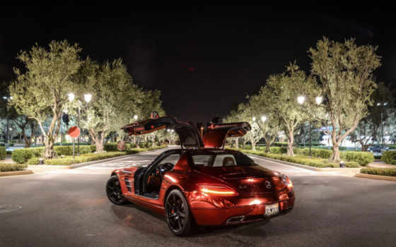 sls, amg, mercedes, red, benz, chrome, iron, фото, мужчина, gallery,