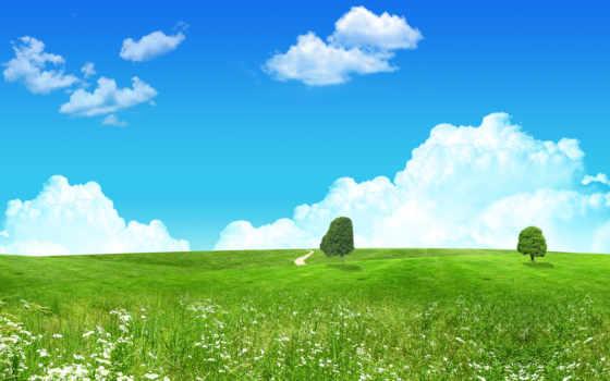 зелёный, landscape, fantasy