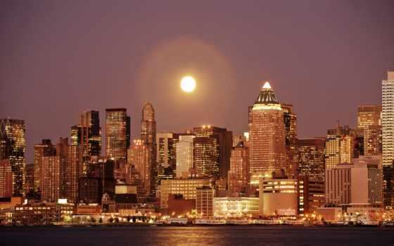 нью, york, new, город, ny, здания, хорошем, качестве, фотографий, water,