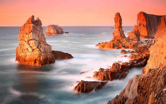 пляж, rocks, amazing, живопись, чи, lanjee, cliff,